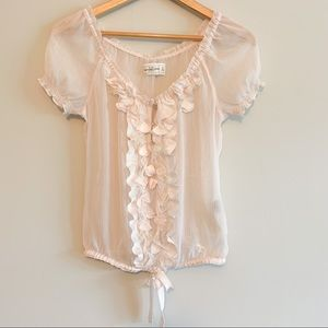 Abercrombie sheer blouse